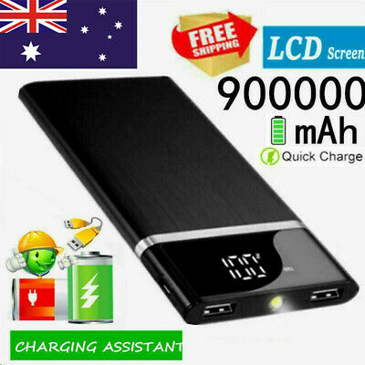 AU22.99 • Buy 900000mAh Fast Charging Portable Power Bank Ultra-thin External Battery Charger