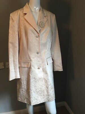 £25 • Buy Wedding Coat Size 16 Bride, Fully Lined With Brooch Dress Jacket Ivory Cream
