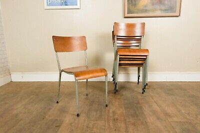 £40 • Buy Vintage Retro Stacking Metal School Chairs - 10 Available