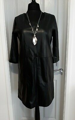 £5 • Buy Principles Black Pu Shift Dress Size 16 New With Tags