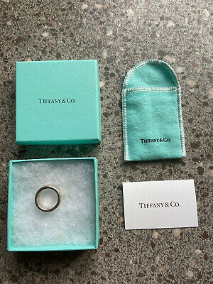£89 • Buy Tiffany & Co. Sterling Silver 1837 Classic Band Ring, Size M