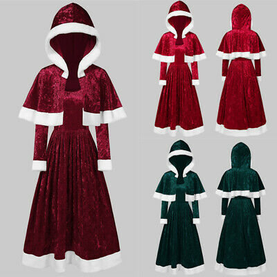 £15.29 • Buy Womens Dress Mrs Santa Claus Outfit Xmas Party Costume Lady Christmas Fancy Gown