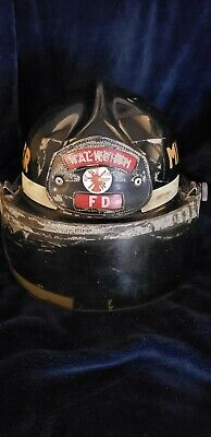 £50.19 • Buy Vintage Cairns Walworth Fire Department Helmet With Leather Front And Visor