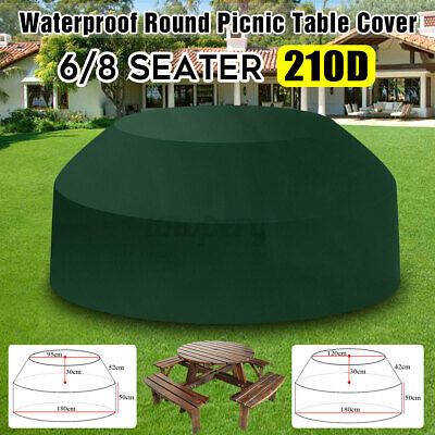 £11.60 • Buy 6/8 Seater Round Green Picnic Table Cover Home Furniture Outdoor Garden