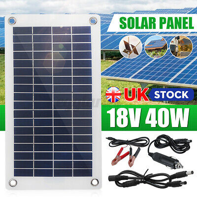 £20.59 • Buy UK 12V 40W Dual Double USB Flexible Solar Panel Battery Charger For Car Boat