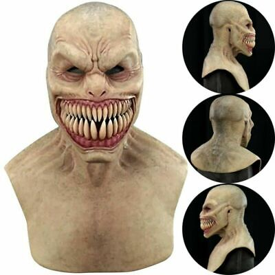 £16.99 • Buy UK Halloween Scary Latex Full Head Mask Cosplay Clown Face Cover Devil Costumes