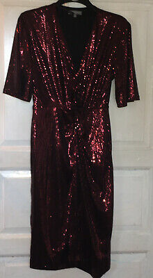 £5 • Buy Principles Stunning Red Sequin Party Dress Size 12
