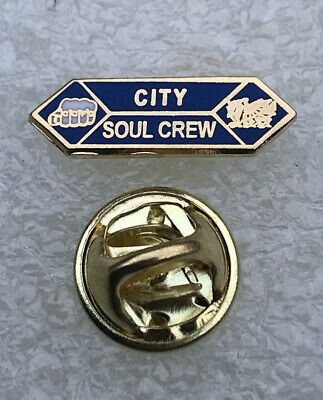 £5.99 • Buy Very Rare & Old Cardiff City Supporter Enamel Badge - Soul Crew Hooligan Firm
