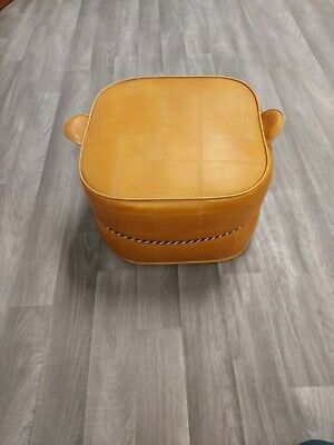 £34.99 • Buy Vintage Sherbourne Tan Brown Leather Retro Pouffe / Footstool