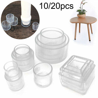 AU15.99 • Buy 10/20pcs Silicone Chair Leg Caps Feet Cover Pads Furniture Table Floor Protector