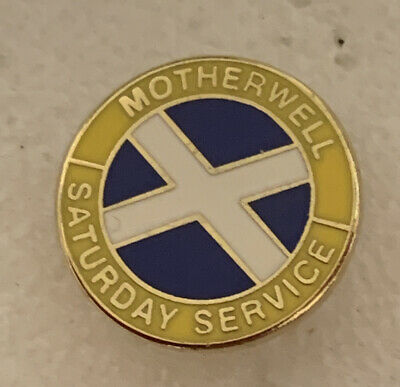 £5.99 • Buy Very Old Rare Motherwell Supporter Enamel Badge - Saturday Service Hooligan Firm