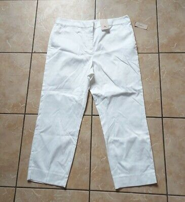 £2.50 • Buy TU White Cropped Slim Fit Straight Leg Size 12 Trousers