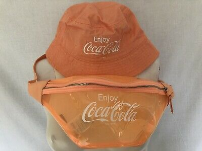 £6 • Buy Coca Cola At H&M Bum Bag And Bucket Hat In Peach