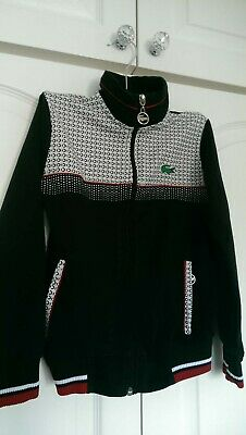 £10 • Buy Lacoste Boys Sport Tracksuit Black And White Red. Age 4-5 Years