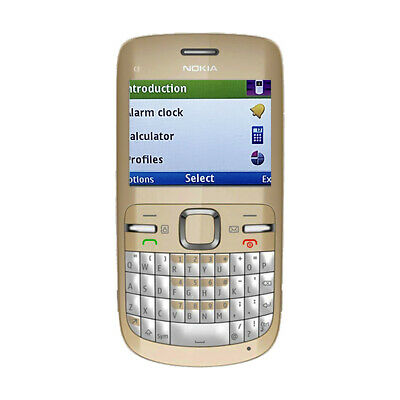 £24.99 • Buy Nokia C3  C3-00 QWERTY Button Good Condition Mobile Phone Gold White Unlocked