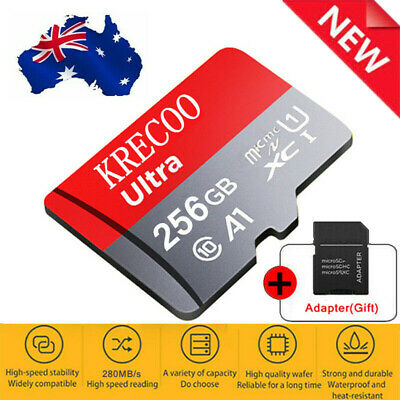 AU3.99 • Buy 256GB Micro Memory SD Card10 Fast 4K Flash TF Card With Adapter&Car&Camera&Phone