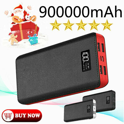 AU26.66 • Buy 2021 New Power Bank Battery Pack 900000mAh Portable For Mobile Phone 4 USB AU