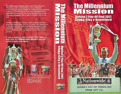 £10 • Buy Stoke City The Millennium Mission Div 2 Play Off Final 2002  Dvd