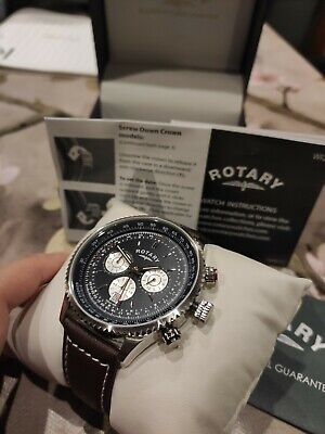 £89.99 • Buy Brand New Rotary Chronograph Gents Men Watch Leather Strap With Original Box