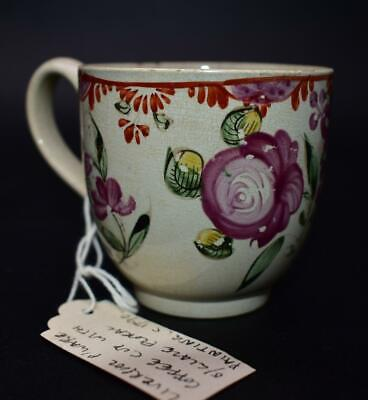 £0.99 • Buy Rare Antique Late 18thC Liverpool Pearlware Polychrome Coffee Cup