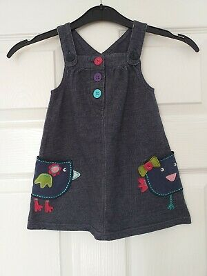 £0.99 • Buy Cute Baby Girls Blue Zoo Dungaree Dress 9/12 Months