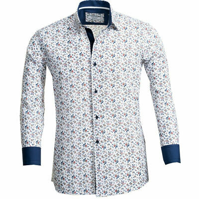 £10 • Buy Russell & Giles Men`s Floral Patterned Shirt Size Medium Tailored Fit