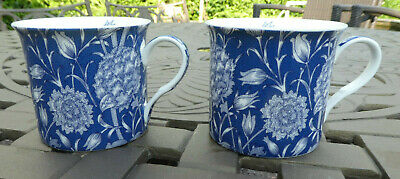 £4.45 • Buy Victoria And Albert Museum Blue Floral Fine Bone China Mug Cup X 2