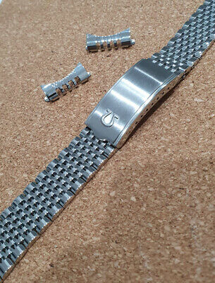 £44.99 • Buy Omega Rice Bead 18mm Stainless Steel Watch Band Strap Clasp Mens Smart Wrist