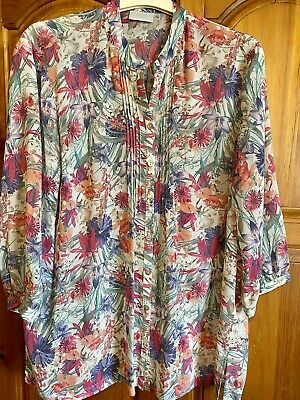 £6.50 • Buy Womes Designer Cotswold Collection Pretty Blouse Size 18 Floral Fine Polyester