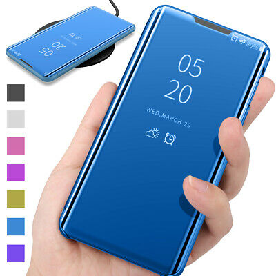 AU11.67 • Buy For Samsung Galaxy S20 S10 S9 S8 S7 S6 Smart View Mirror Leather Flip Case Cover