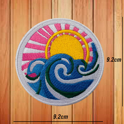 £2.79 • Buy Beach Sunset Lovely Embroidered Patch Iron Or Sew On Badge Appliques
