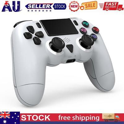 AU40.14 • Buy Wireless Controller For PS4 Pro Slim Dual Motor Vibration 6-Axis Gyro White