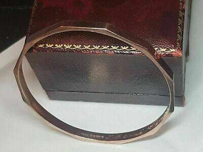 £999 • Buy Large 9ct Solid Rose Gold Bangle One Of The Kind Fully Hallmarked Chester 1926