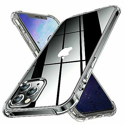 AU5.49 • Buy Shockproof Clear TPU Case Cover For IPhone 13 12 11 Pro Max X XS XR 6 7 8 Plus