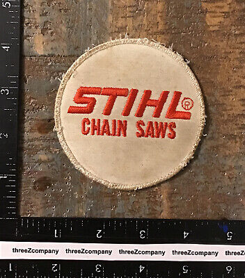 £9.27 • Buy Vintage Stihl Chain Saws Sew-On Advertising Round Hat Jacket Patch Chainsaws