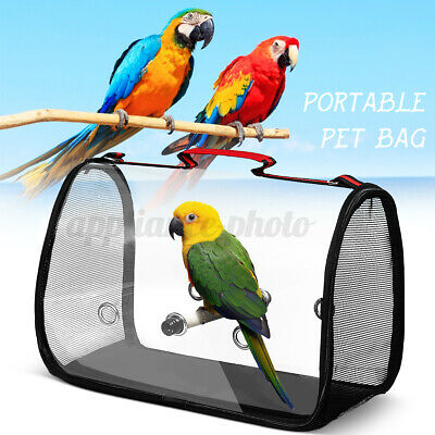£19.04 • Buy Bird Backpack Portable Pet Parrot Bag Carry Wooden Stand Outdoor Travel Cage
