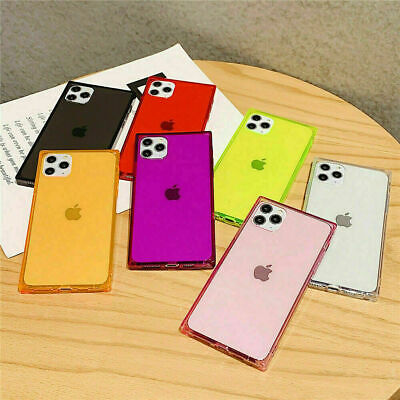 AU8.99 • Buy IPhone 13 Pro Max 12 Mini 11 XS 8 7 Shockproof Clear TPU Square Soft Case Cover