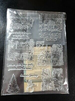 £9.95 • Buy Joanna Sheen 12 Piece Christmas Clear Stamp Set Dies And Embossing Folder NEW  D