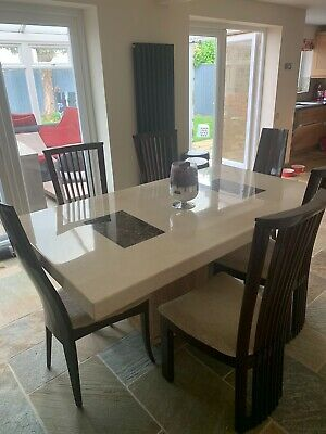 £699 • Buy Marble Dining Table And 6 Chairs Used