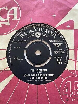 £50 • Buy Roger Webb And His Piano And Orchestra The Spiderman Mod Dancer UK 7