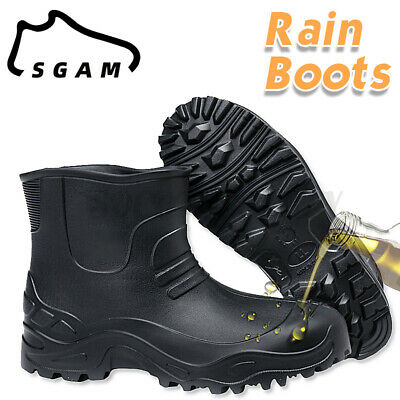 £16.88 • Buy Men Waterproof Rain Boots Non-slip Ankle Shoes Slip-On Casual Flat Muck Mud Boot