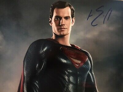 £34.99 • Buy Original Hand Signed Superman Picture By Henry Cavill, 🎬