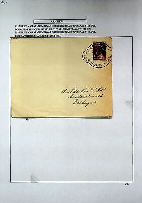 AU1.35 • Buy NETHERLANDS 1937 PRE WWII 6c ON COVER FROM ARNHEM TO DRIEBERGEN