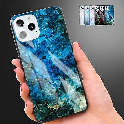 AU9.99 • Buy Tempered Glass Case For IPhone 13 Pro Max 12 11 8 7 XS X Shockproof Marble Cover