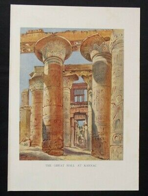 £4.25 • Buy Antique Print: Great Hall At Karnac, Thebes, New Popular Educator, 1899