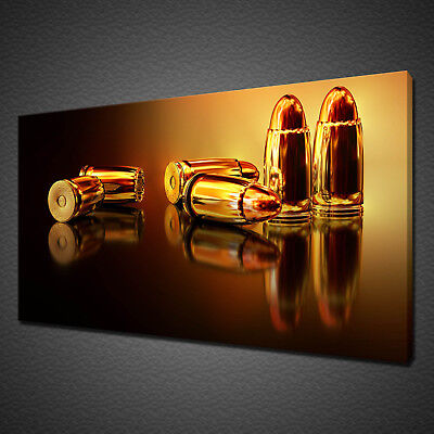 £19.99 • Buy Golden Bullets Modern Design Office Home Canvas Print Wall Art Picture Photo
