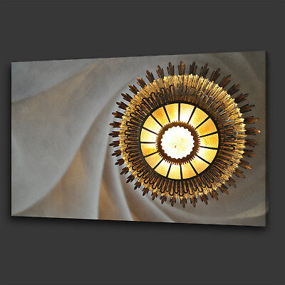 £19.99 • Buy Stunning Gold Chandelier Vintage Box Canvas Print Wall Art Picture Photo