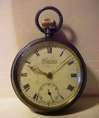 £4.99 • Buy SWISS 7 Jewls SILVER .925 ANTIQUE POCKET WATCH (NOT WORKING) FOR PARTS OR REPAIR