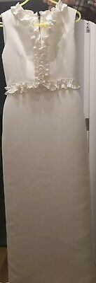 £25 • Buy Ted Baker Dress Size 2 (UK 10) Winthia Ivory Tie The Knot