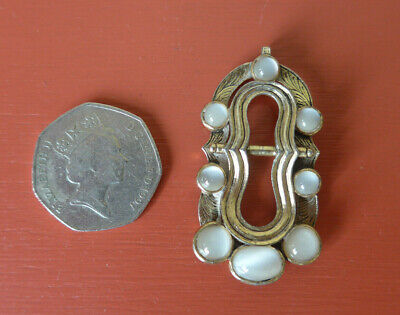 £5 • Buy Vintage Miracle Pendant With Greyish White Stones - No Chain